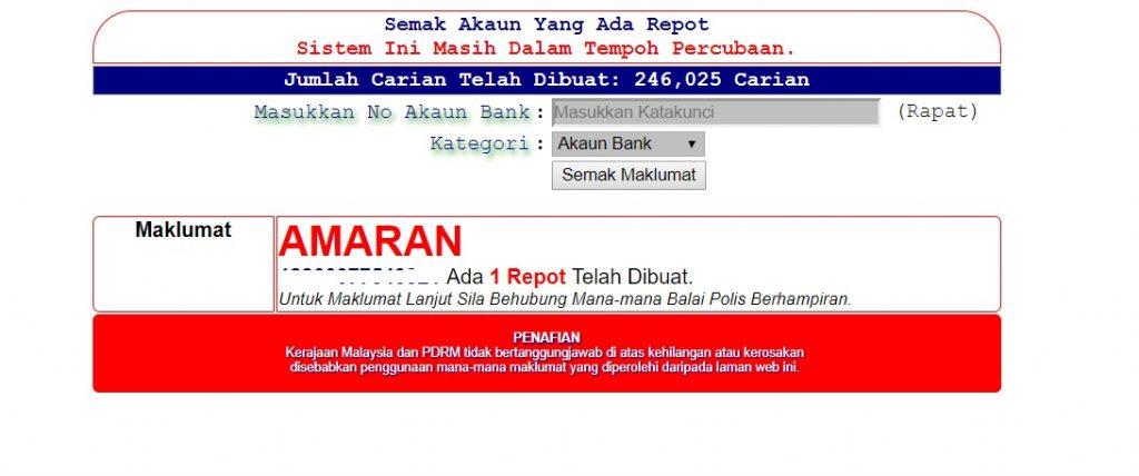 Cara Mudah Semak Nombor Akaun Penipu Online Mohd Zaki Dot Com