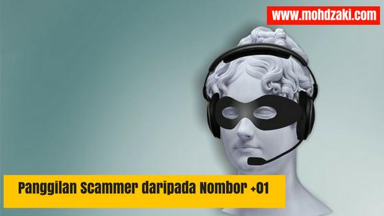 Panggilan Scammer daripada Nombor +01