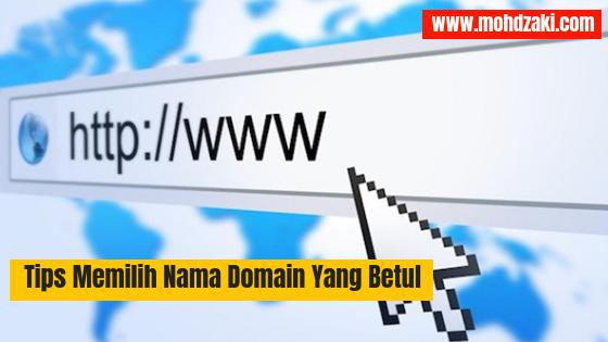 Tips Memilih Nama Domain Yang Betul