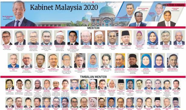 Senarai Kabinet di Bawah Perdana Menteri Tan Sri Muhyidin Yassin